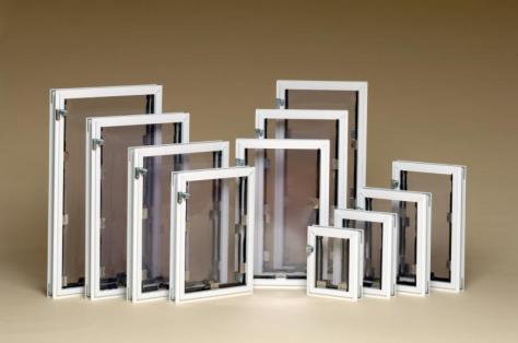 Lots of sizes of dog doors. www.halepetdoors.com